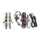 DRL огни (комплект) DRL US4C-021С (к-т уневерс. ламп дневного хода с тниров. стеклом и хромированным фоном)